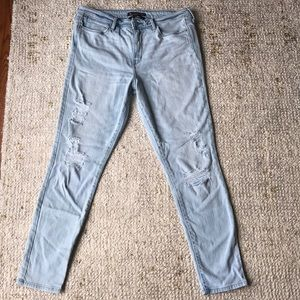 Abercrombie light denim jeans with holes